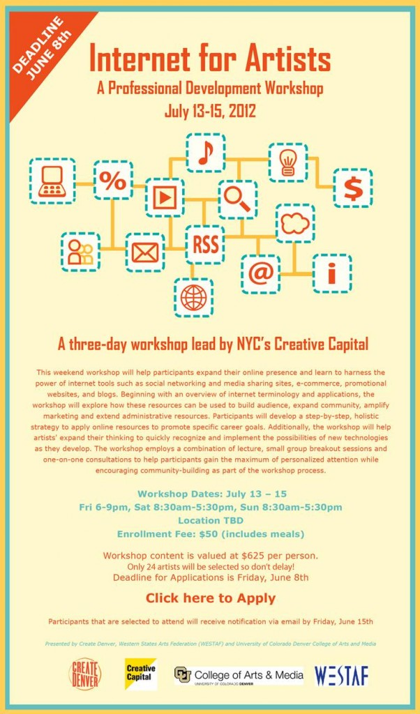 Creative Capital Internet for Artists Workshop