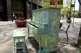 16Th Street Mall Downtown Denver piano